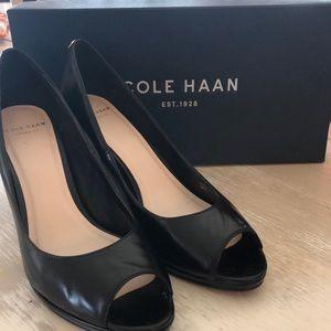 Cole Haan Peep Toe Pumps